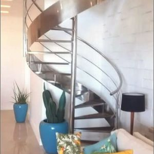 escada caracol de inox no rio de janeiro